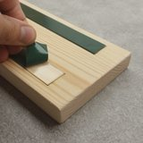 CutterTeam: Massief houten Tekst Bord: (Kerststal)_