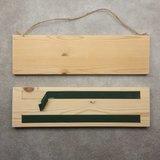 CutterTeam: Massief houten Tekst Bord: Ik hou van je Schatje (Hartjes)_