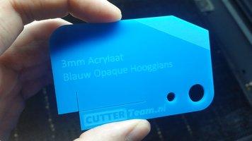 3mm Acrylaat Blauw Opaque Hoogglans