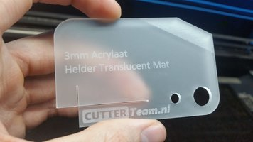 3mm Acrylaat Helder Translucent Mat