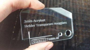 3mm Acrylaat Helder Transparant Hoogglans