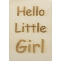 CutterTeam: Houten Kaart A6: Hello Little Girl