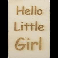 MemoryGift: Houten Kaart A6: Hello Little Girl