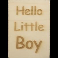 MemoryGift: Houten Kaart A6: Hello Little Boy