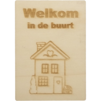 CutterTeam: Houten Kaart A6: Welkom in de buurt (Huis)