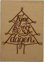 MemoryGift: Houten Kaart A6: Fijne kerstdagen (slingerboom 2)