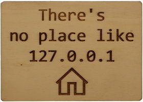 MemoryGift: Houten Kaart A6: There is no place like 127.0.0.1
