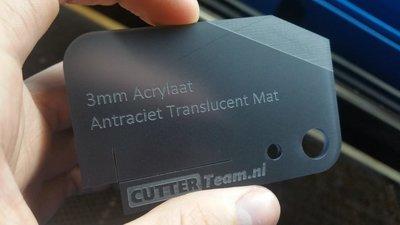 3mm Acrylaat Antraciet Translucent Mat