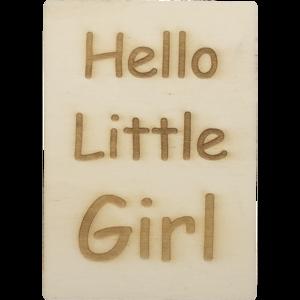 CutterTeam: Houten Kaart A6: Hello Little Girl