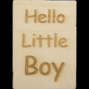 CutterTeam: Houten Kaart A6: Hello Little Boy
